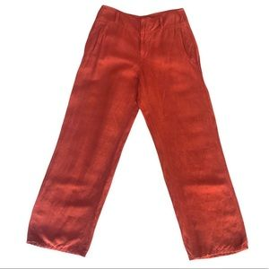 SUGAR PRODUCT Burnt Orange Linen Rayon Trouser